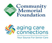 Community Memorial Foundation Logo and Aging Care Connections Logo