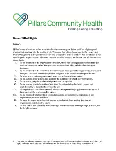 Donor Bill of Rights Thumbail