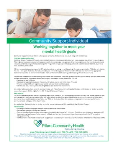 Marketing Flyer - Community Support Individual