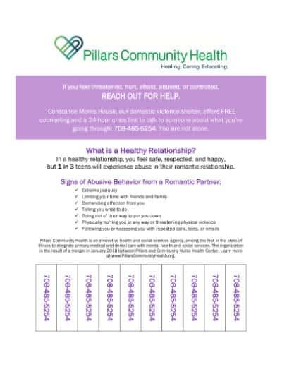 Marketing Flyer - Domestic Violence Tear-Off