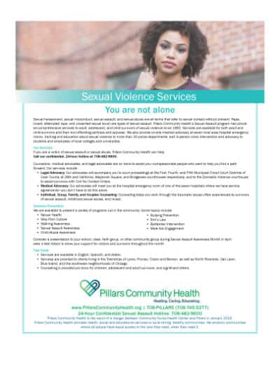 Marketing Flyer - Sexual Violence Services