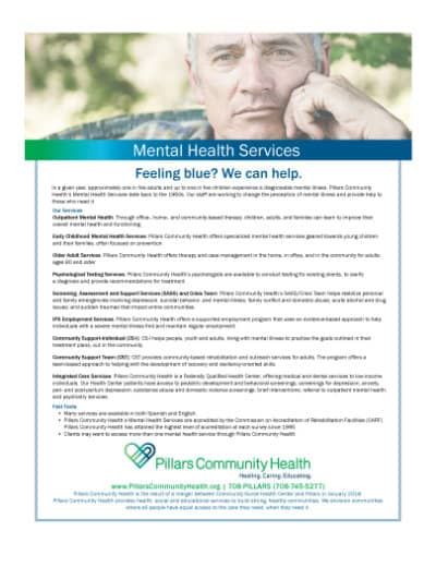 Marketing Flyer - Mental Health Services