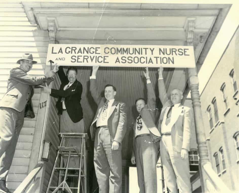 1930s sign LaGrange Community Nurse